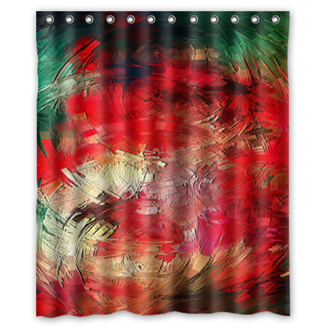 Abstract Texture Psychedelic #09 Shower Curtain Waterproof Made From Polyester - $29.07 - $48.30