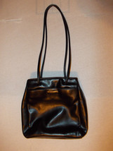 NINE WEST BLACK leather shoulder bag purse Nine West purse Black Purse Bag - $18.62