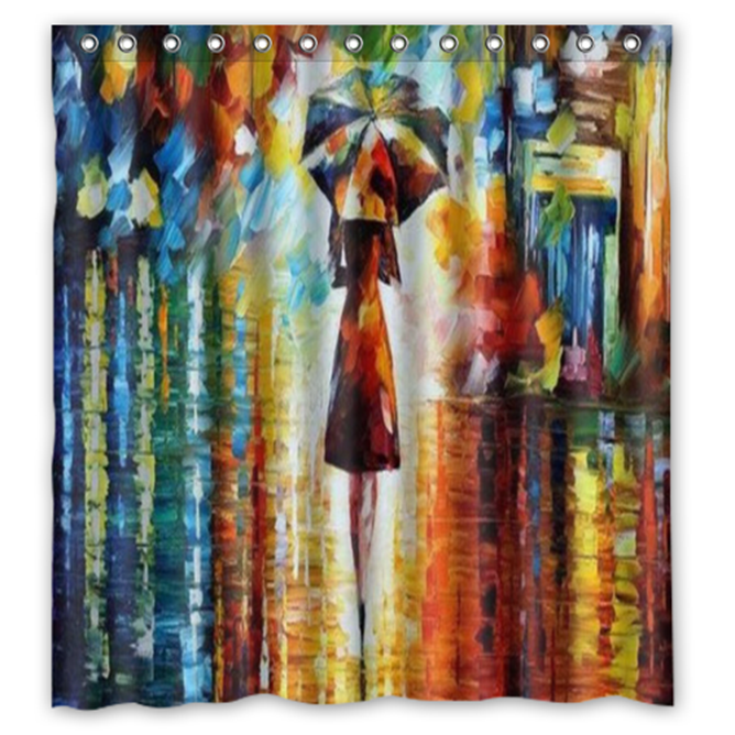 Abstract Trippy Psychedelic #31 Shower Curtain Waterproof Made From Polyester - $29.07 - $48.30