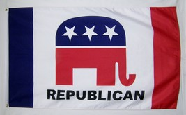 Repuplican Party Flag 3' X 5' Indoor Outdoor Banner - $9.95