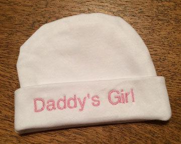 "Preemie & Newborn ""Daddys Girl"" Hat"