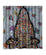 Abstract Trippy Psychedelic #39 Shower Curtain Waterproof Made From Poly... - $29.07+