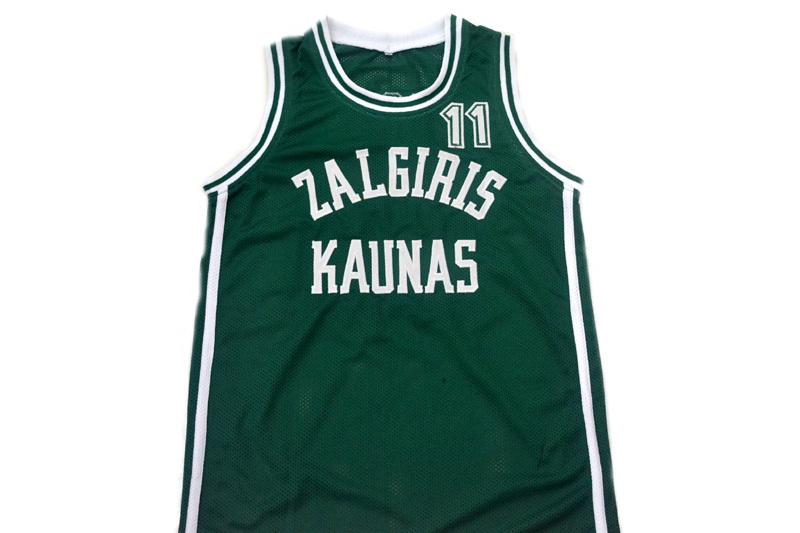 Arvydas Sabonis #11 Zalgiris Kaunas Lithuania Basketball Jersey Green Any Size