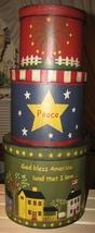 53303GBA - God Bless America s/3 Paper Mache' - $18.95