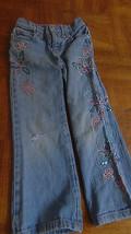 Jeans Bongo Girls Sz 4-Embellished-Sequin-Embroidered Flower-Light Blue-... - $1.99