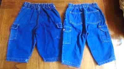 Jeans Unisex Sz 12 Mos.-Weebok Snap Legs-Jeans Wear-Riders Girls W/Flowers