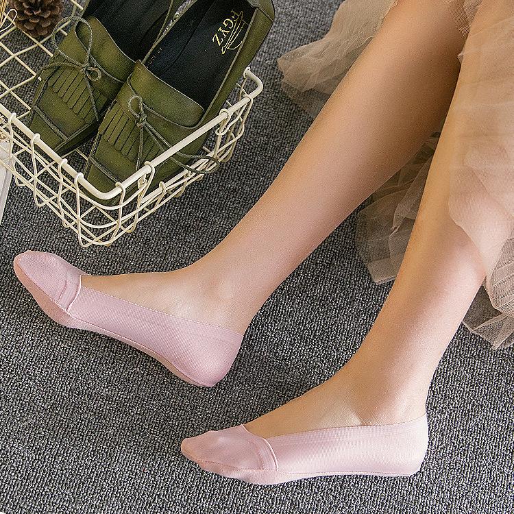 Summer Socks Cool Invisible ankle Socks thin toe socks silicone antiskid women