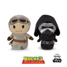 Rey & Kylo Ren Hallmark itty bittys Disney Star Wars The Force Awakens L... - $15.83