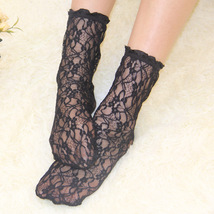 Women Sexy Lace Socks Vintage Ankle Kawaii Socks for Girls Transparent S... - $9.00