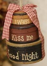 8B2991-Mini ovals-Always Kiss Me Goodnight  Paper Mache' - $4.50
