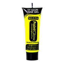 Paint Glow Neon Yellow 10ml/.34oz UV Blacklight Reactive Hair Gel - $6.50