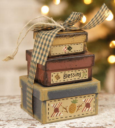 Primary image for 8B2994-Blessings Mini Nesting Boxes Paper Mache'