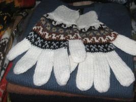 Alpaca wool finger gloves, warm mittens in standart size - $21.00