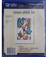 Crafters Square Counted Cross Stitch Fluttering... - $12.86