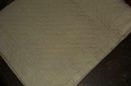 Restoration Hardware 1 Gray Diamond Matelasse Standard Pillow Sham EUC - $24.97