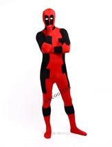 Cool Deadpool Costume Spandex Adult Women Red Fullbody Superhero Cosplay - $37.39 - $46.99