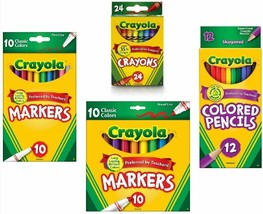 Crayola Crayons (24 Count), Crayola Colored Pencils in Assorted Colors (... - $15.37