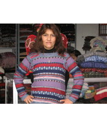 Women Sweater,pure Alpaca wool, jersey in all sizes - $114.00