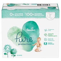 Pampers Pure Protection Diapers - Size 2, 12 - 18 lbs, 144 ct