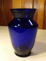 """Vintage COBALT BLUE Classic Glass Flower VASE 8"""" - $24.70"""