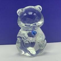 Fenton glass teddy bear figurine birthday stone sculpture December topaz... - $33.66