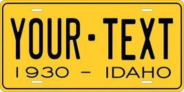 Idaho 1930 Personalized Tag Vehicle Car Auto License Plate - $16.75