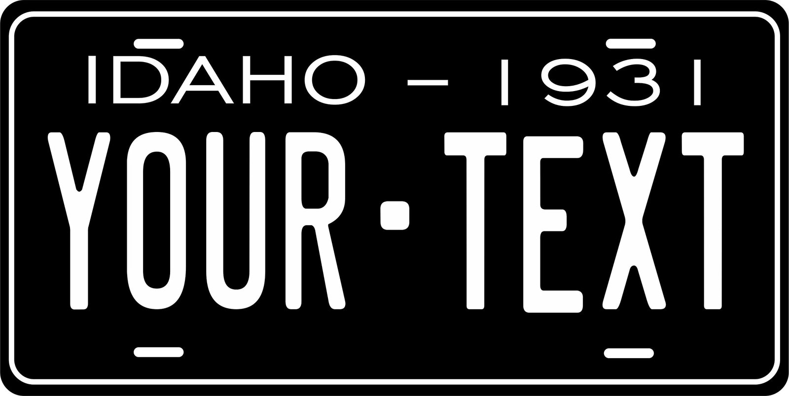 Idaho 1931 Personalized Tag Vehicle Car Auto License Plate