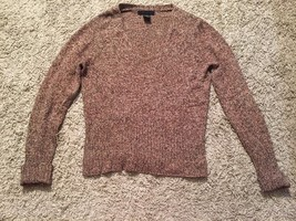 The Limited Women's Wool Blend Brown V-neck Sweater, Sz M - $19.99