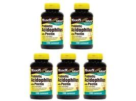 5X 100 = 500 CAPSULES ACIDOPHILUS WITH PECTIN Probiotics Lactobacillus D... - $27.39