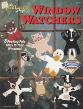 Window Watchers, Plastic Canvas Pattern Booklet TNS 913103 Animal Stick-ups - $4.95