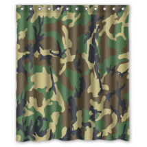Army Camouflage Pattern Design #04 Shower Curtain Waterproof Made From P... - $29.07+