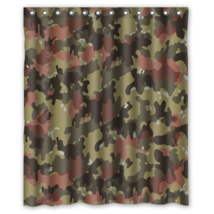 Army Camouflage Pattern Design #07 Shower Curtain Waterproof Made From P... - $29.07 - $48.30