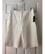 Nic + Zoe Cream Ivory Bermuda  Long Shorts NWT ... - $20.00