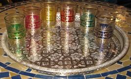 Moroccan tea glasses-Moroccan tea glass-Moroccan glasses-Glass tea cups-... - $36.00