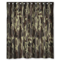Army Camouflage Pattern Design #09 Shower Curtain Waterproof Made From P... - $29.07 - $48.30