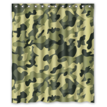 Army Camouflage Pattern Design #10 Shower Curtain Waterproof Made From P... - $29.07+