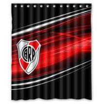 Atletico River Plate Design #02 Shower Curtain Waterproof Made From Polyester - $29.07+