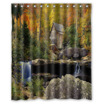 Autumn Forest Design #11 Shower Curtain Waterproof Made From Polyester - $29.07+