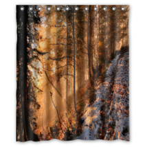 Autumn Forest Design #12 Shower Curtain Waterproof Made From Polyester - $29.07+