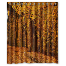 Autumn Forest Design #14 Shower Curtain Waterproof Made From Polyester - $29.07+