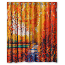 Autumn Forest Tree Design #23 Shower Curtain Waterproof Made From Polyester - $29.07+