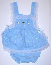 "Infants Sunnie Annie's Sundress,""KC BABY"", Blue, 100% cotton - $8.00"