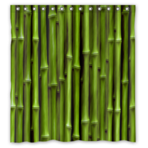 Bamboo Pattern #01 Shower Curtain Waterproof Made From Polyester - $29.07+