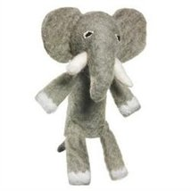 Fair Trade Finger Puppet Elephant - Christmas Tree Ornament Dzi Wild Woolie - $15.00