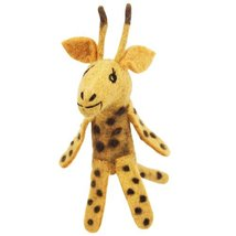 Fair Trade Finger Puppet Giraffe Christmas Tree Ornament Dzi Wild Woolie - $10.99