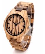 Men Wristwatches Wooden Fashion Brand Full Zebra Stripe lines Carton Gif... - $54.99