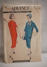 Old Vintage 1940's Advance Sewing Pattern 8733 Maternity Fashion Size 18 - $6.92