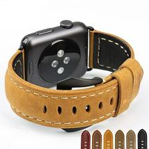Vintage Leather Watchbands for iwatch Bracelet Apple Watch Band 44mm 40m... - $52.99+