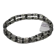 Lia Sophia Stretch Bracelet Crystals Silver Tone Beads Crystals Woodland - $10.88