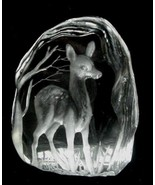 Capredoni Etched Ice Crystal Deer Sculpture Paperweight - $14.50